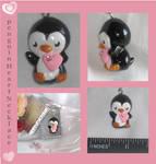 Polymer Clay Penguin Heart