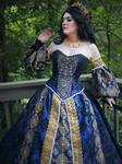 Blue and Gold Renaissance-Fantasy Gown (Destash!)