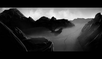 Empty Dark Canyon (30min Speedpaint)