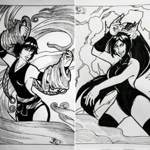 Fuujin and Raijin (WIP)