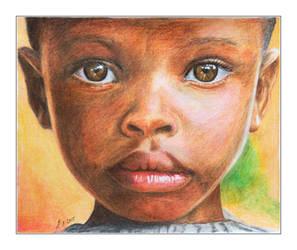 Coloured Pencil Portrait of a boy