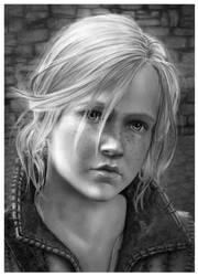 Young Ciri at Kaer Morhen - Pencil Portrait by Jooleya