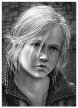 Young Ciri at Kaer Morhen - Pencil Portrait