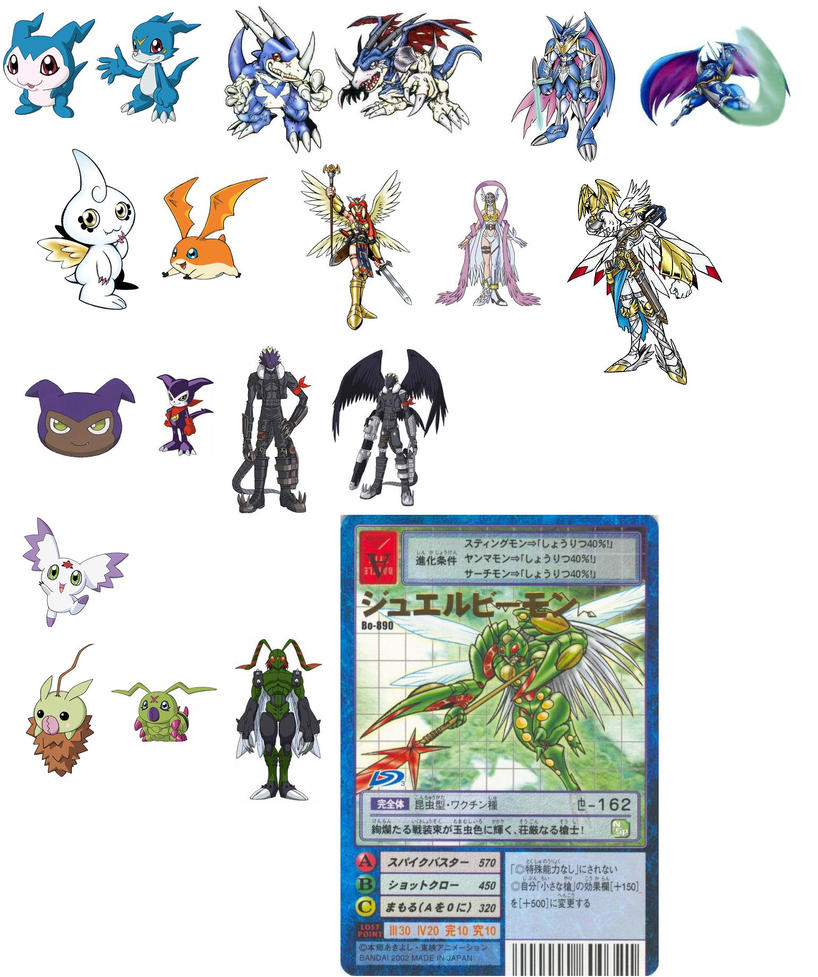 Digimons 100 Digivolutions from Adventure 01 to Savers