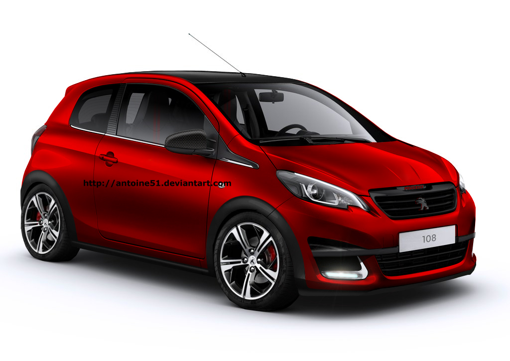 Peugeot 108 GTi Rendering Takes You Back to the Saxo VTS Era - autoevolution