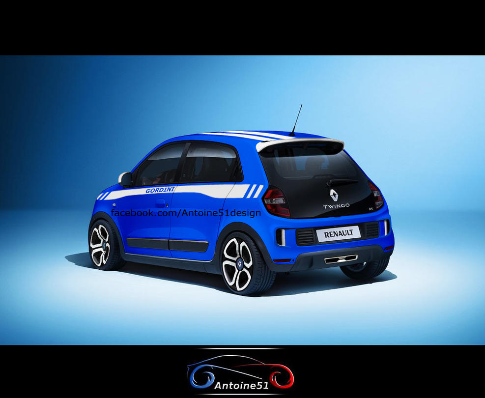 renault twingo 3 rs gordini rear by antoine51. Black Bedroom Furniture Sets. Home Design Ideas