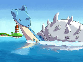 Giant Lapras by budle89