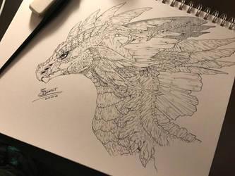 Enchanted Dragon -Calligraphy- by ScarletKnightReterns