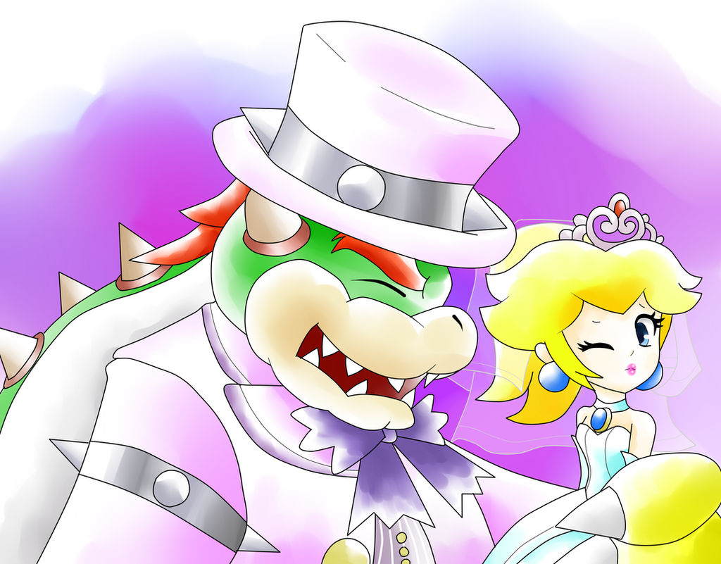 Super Mario Odyssey Peach And Bowser S Wedding By