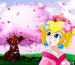 Peachy's Sakura by GeekytheMariotaku