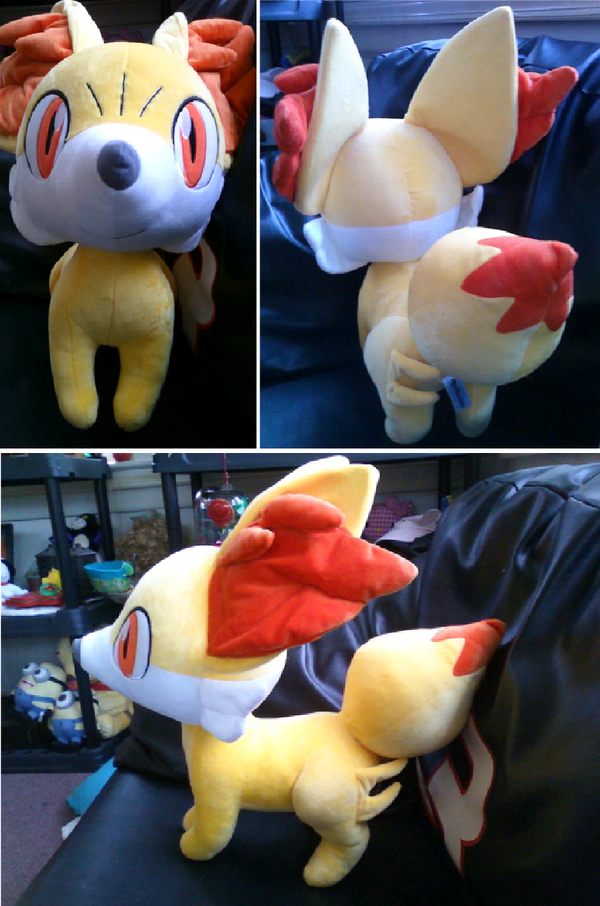 Life size fennekin plush by gluevah on deviantart for Life size shark plush