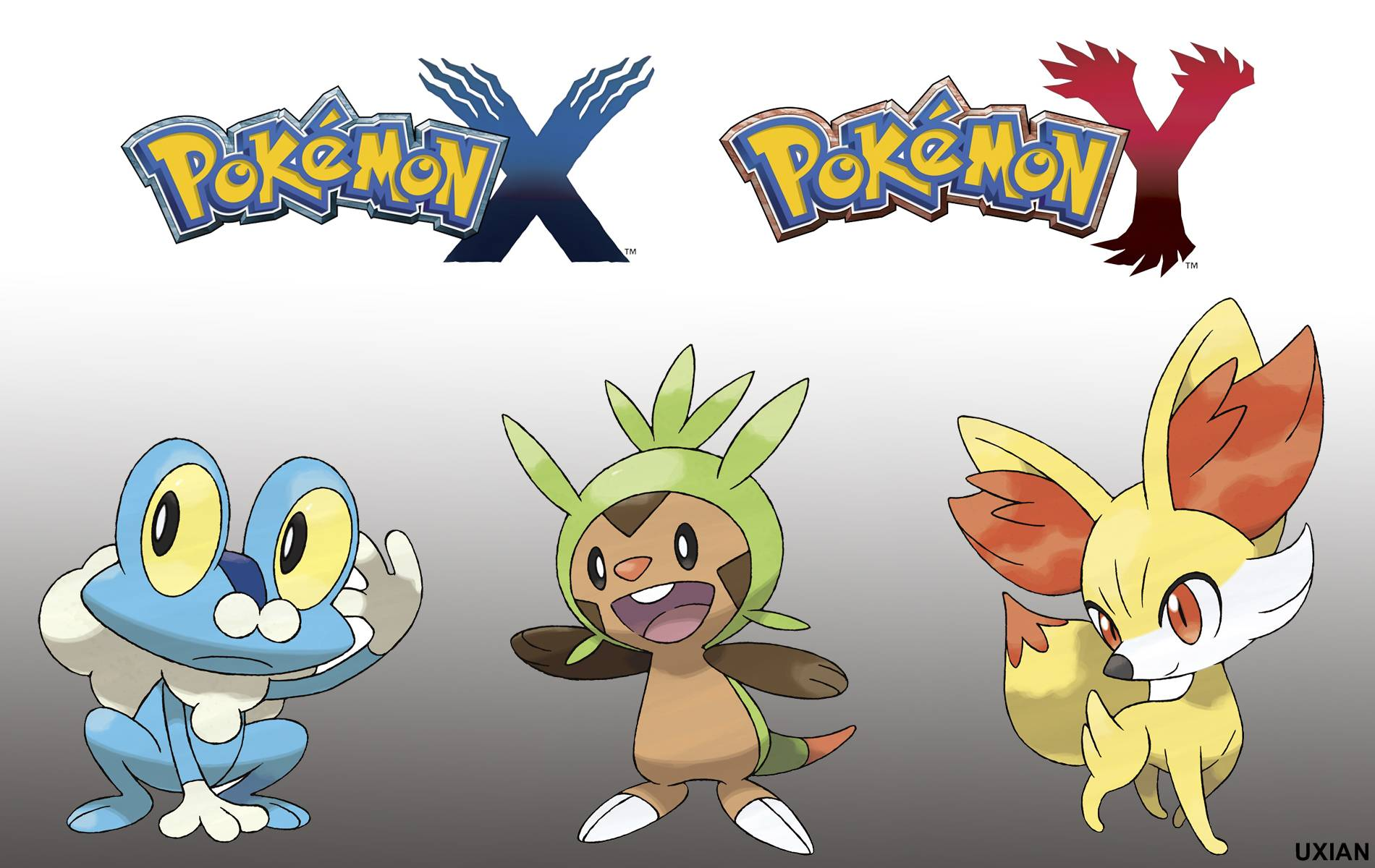 Pokemon X And Y Wallpaper Starters By Uxianxiii On Deviantart