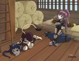 Commission: Kirara and Touka