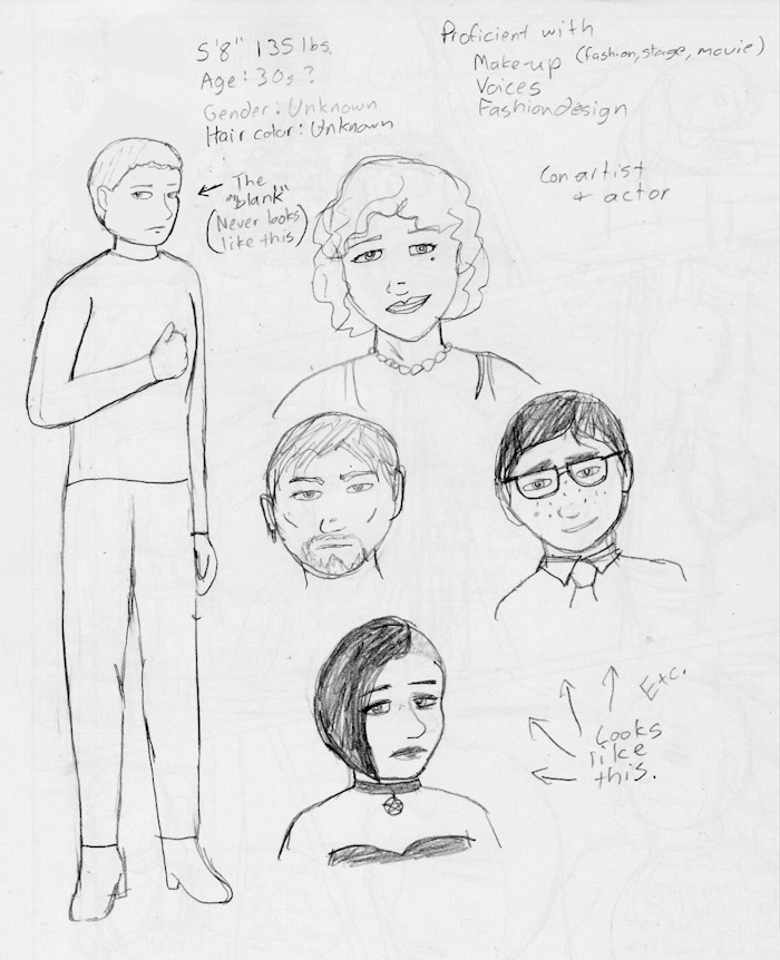 Disguise Artist Concept Sketch by usedbooks