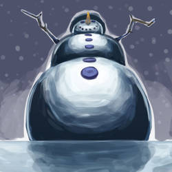 The snowman rises by ColorfullyMonotone