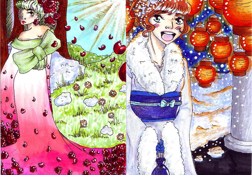 Kakao248-249: Jahreszeiten Kimono by chibikisarachan
