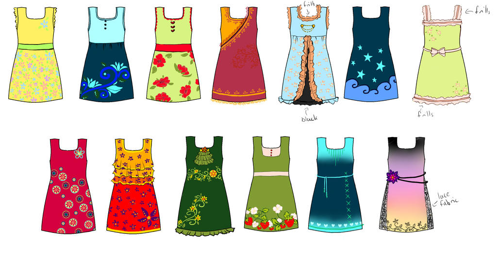 Contest-entry: dresses by chibikisarachan