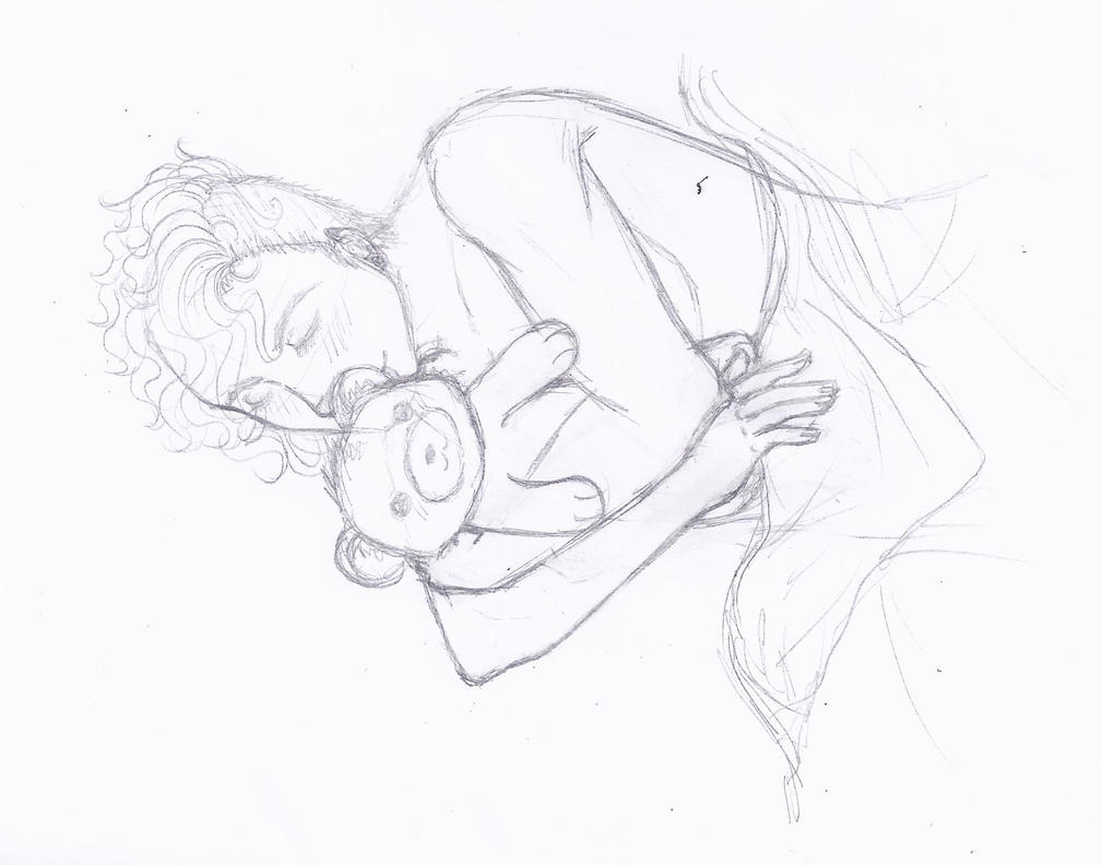 david - sleeping - sketch by chibikisarachan