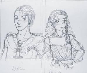 OC-Design sketches by chibikisarachan