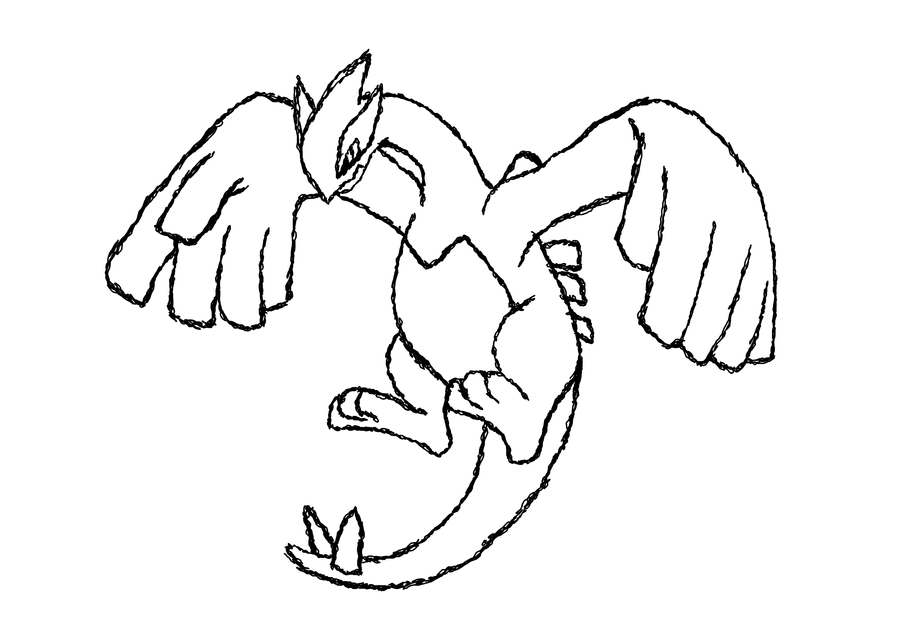 pokemon lugia coloring pages - photo#19