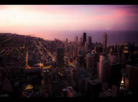 Chicago Dusk 2 by makks87