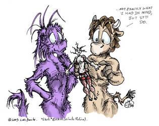 Skifi gets a Tramp Doll by leksbronks