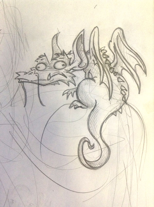 Googley-Eyed Dragon by leksbronks