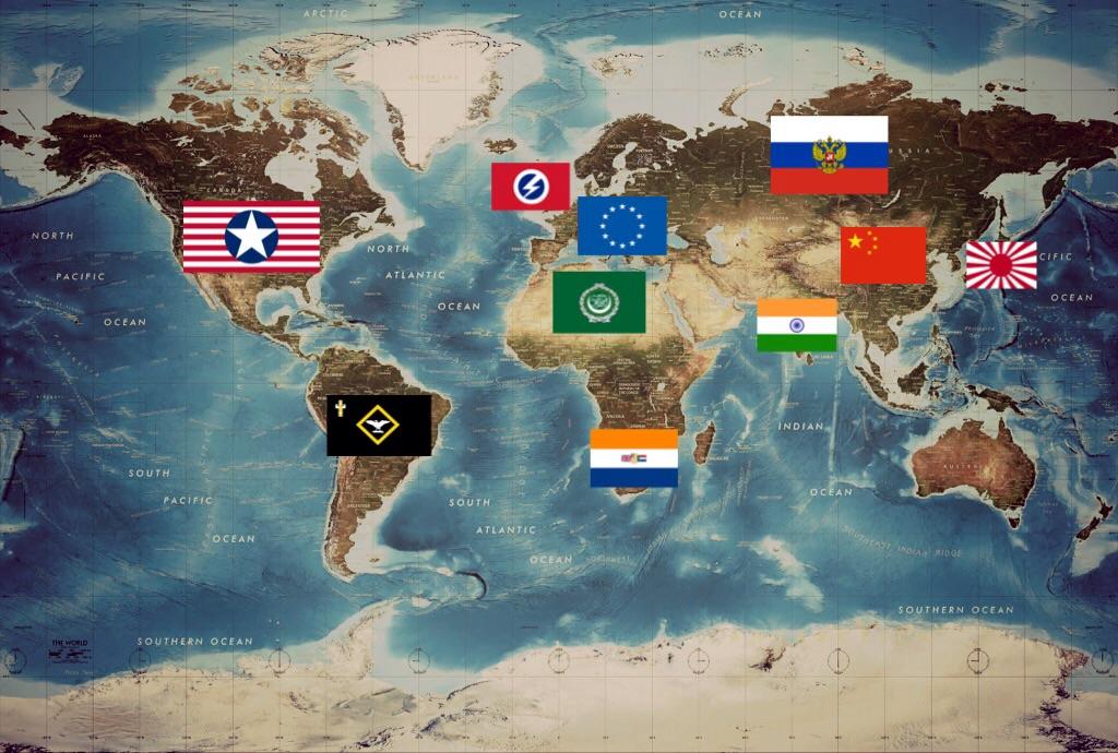 Post World War Map By RedBritannia On DeviantArt - World map 3