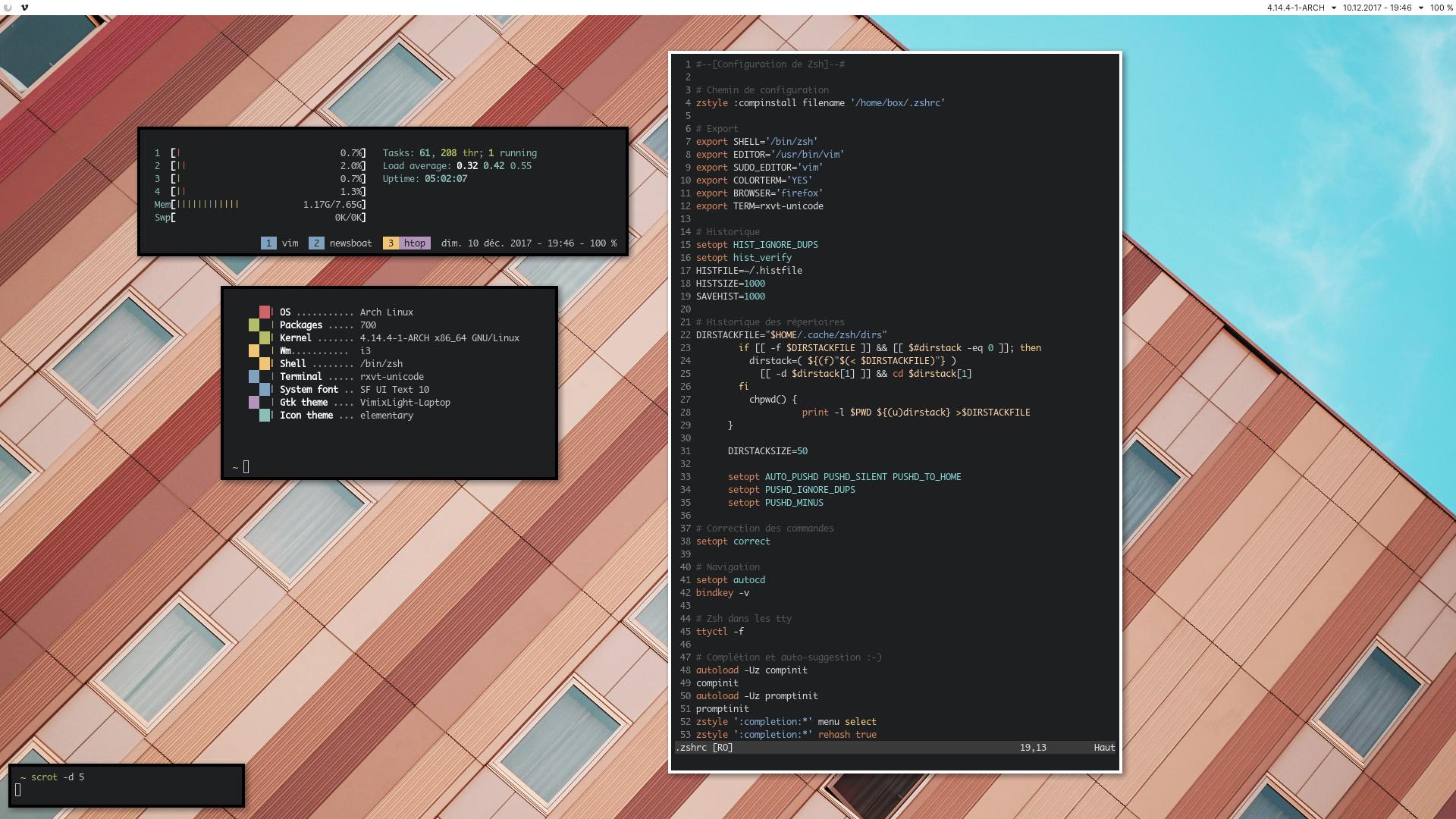 Archlinux, i3, colors ! by kachory on DeviantArt
