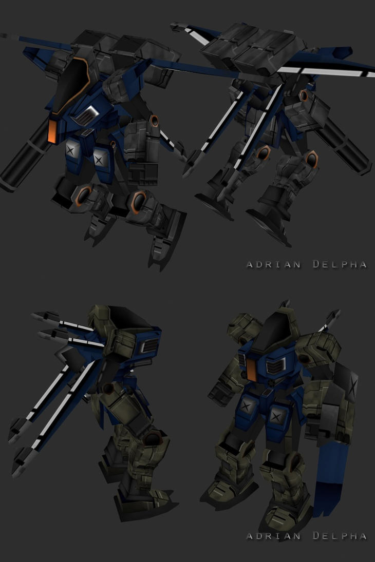 Low Poly Mech by DelphaDesign