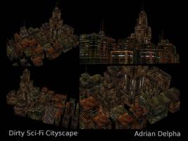 Future Cityscape by DelphaDesign