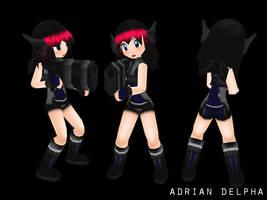Soldier Girl V1 by DelphaDesign