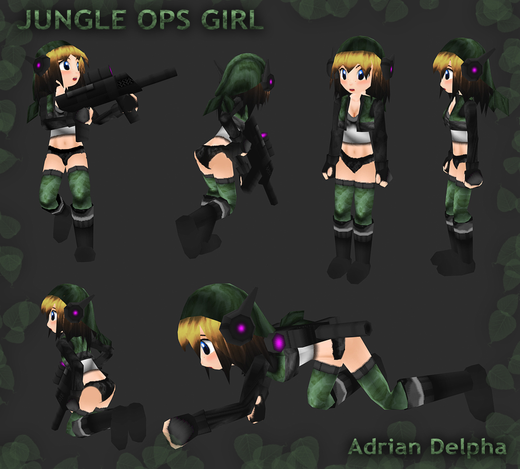Jungle Ops Girl by DelphaDesign