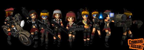 Command Assault Girls by DelphaDesign