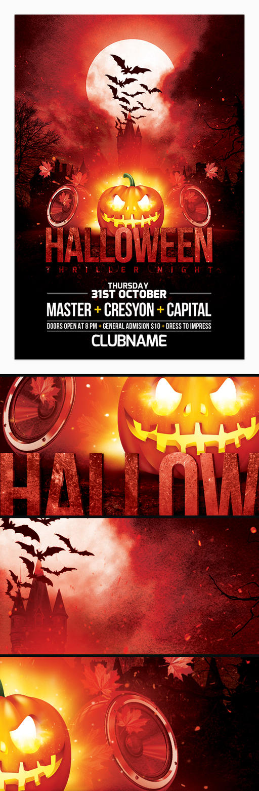 Halloween Party Flyer by cresyon