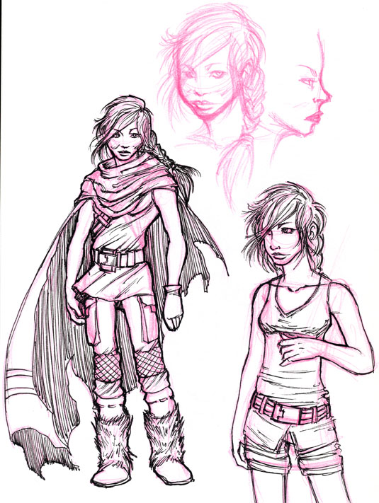 Prelim Sketch Teenage Mara by KleeWyck