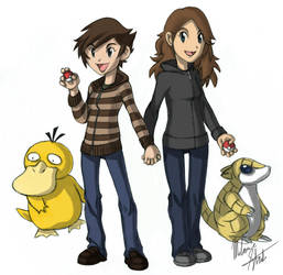 Pokemon Trainer Couple by KleeWyck