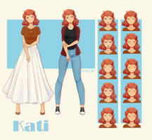 VN Sprite Sheet - Kati by Likri