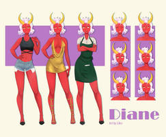 VN Sprite Sheet - Diane by Likri