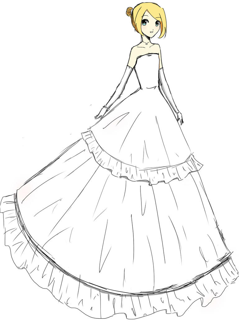 coloring pages of prom dresses - the gallery for drawings of prom dresses