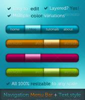 Clean Menu Bars + Text Styles by akenord
