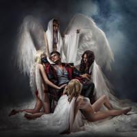 Dante and Angels - DmC: Devil May Cry cosplay