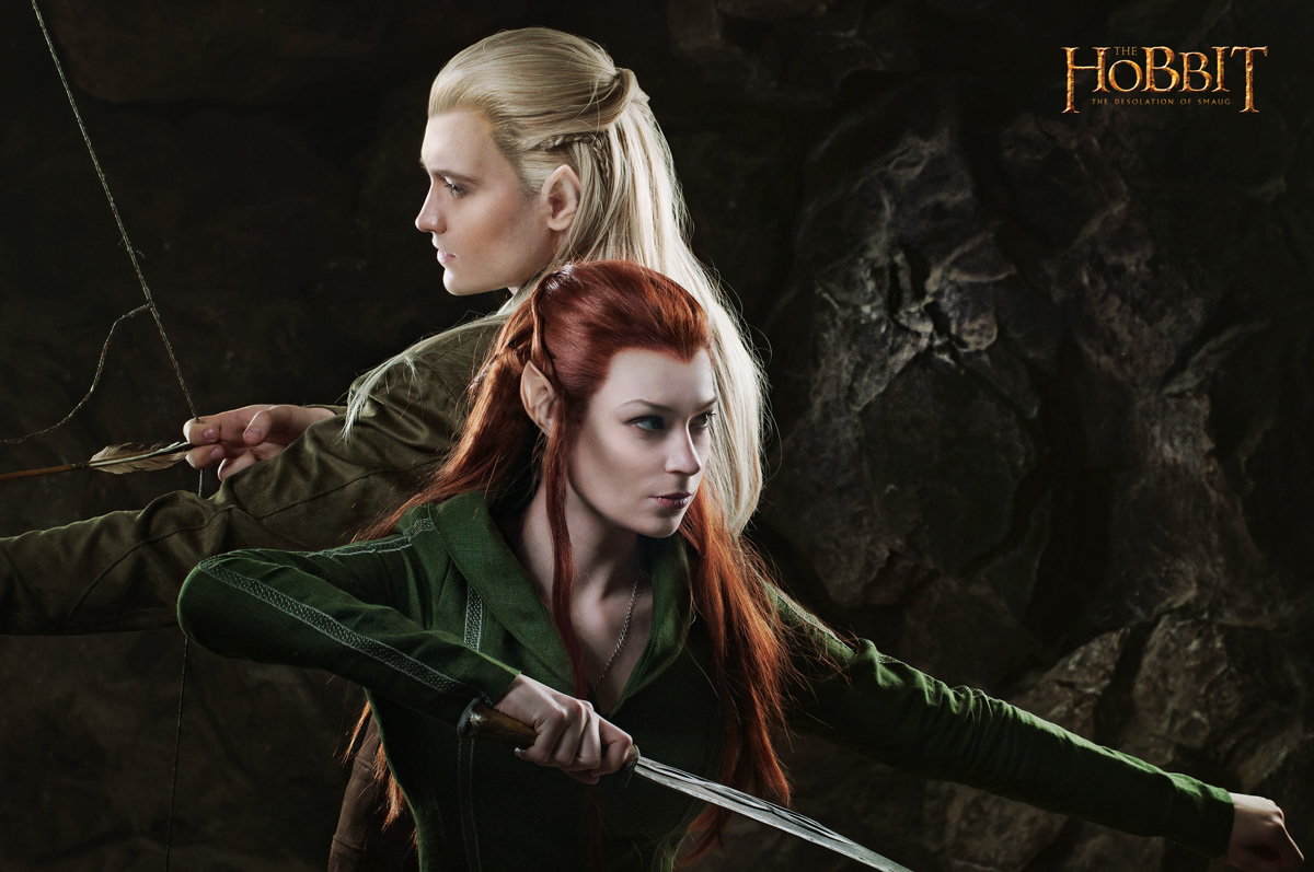 Legolas and Tauriel 1 - The Hobbit cosplay (test) by LuckyStrike-cosplay