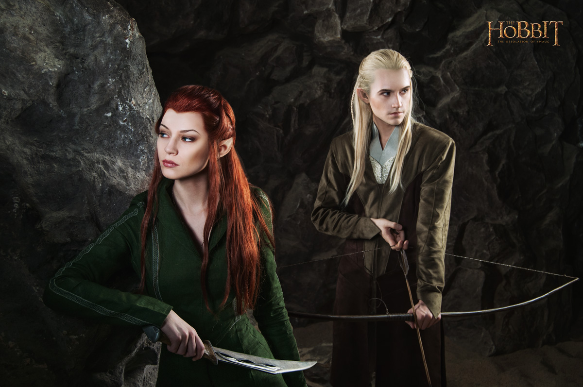 Legolas and Tauriel 2 - The Hobbit cosplay (test) by LuckyStrike-cosplay
