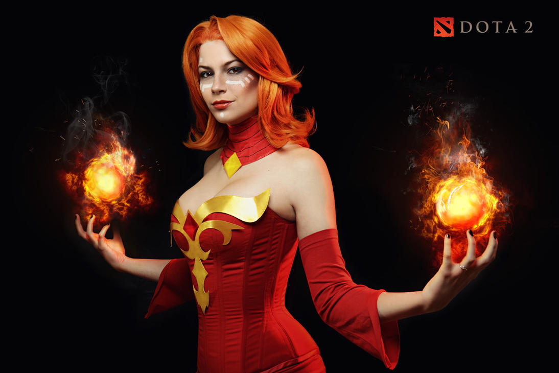 lina dota 2 cosplay by luckystrikecosplay on deviantart