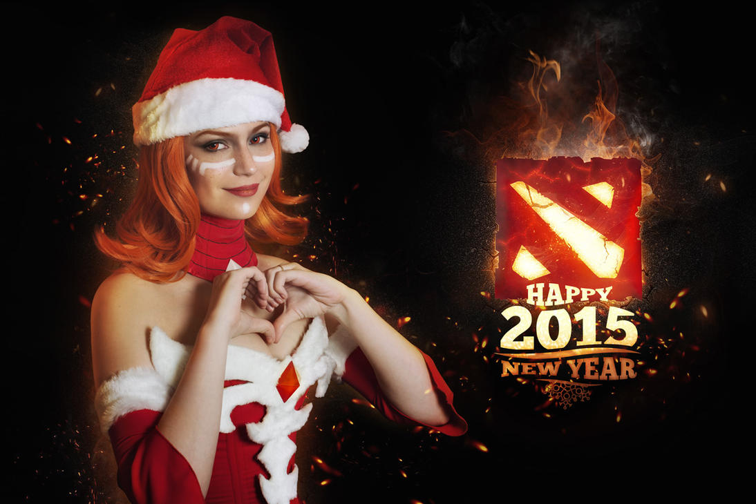 New Year Lina - Dota 2 cosplay by LuckyStrike-cosplay