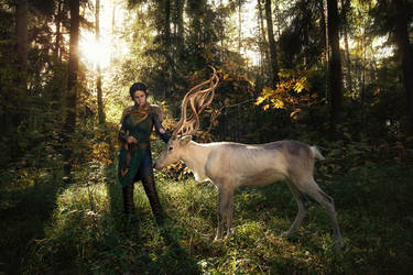 Merrill with Halla 1 - Dragon Age II cosplay by LuckyStrikeCosplay