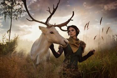 Merrill with Reindeer 1 - Dragon Age II cosplay