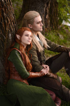 Legolas and Tauriel - The Hobbit cosplay
