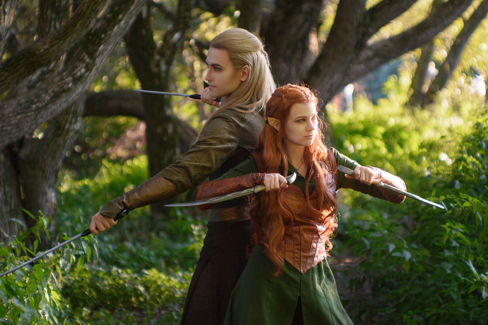 Legolas and Tauriel - The Hobbit cosplay by ...